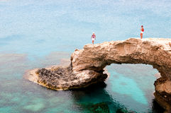 Het overzees holt het gebied van Greco van de Kaap in Cyprus uit Royalty-vrije Stock Afbeelding