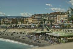 Het overzees in Nice Royalty-vrije Stock Foto's