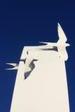 Het overzees slikt Beeldhouwwerk in Cleveleys, Lancashire Stock Afbeelding