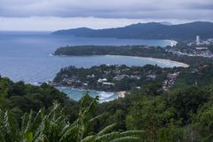 Het overzees Thailand van landschapsphuket Stock Foto's