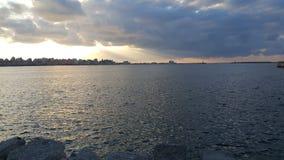 Het overzees van Alexandrië met wolken Royalty-vrije Stock Afbeeldingen