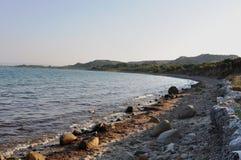 Het Overzees van Anzac Cove & Aegian-, Galllipoli, Turkije stock foto's