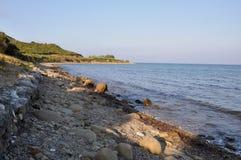 Het Overzees van Anzac Cove & Aegian-, Galllipoli, Turkije stock afbeeldingen