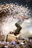 Het overzees van de bureaucratie stock afbeelding