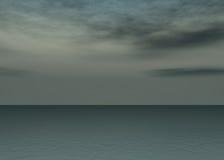Het overzees van de dageraad - Zonsondergang boven de horizon vector illustratie