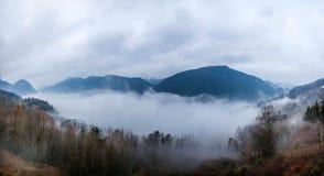 Het overzees van de de Riviervallei van Hubeibadong Dazhiping van wolken †‹â€ ‹ Royalty-vrije Stock Foto