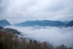 Het overzees van de de Riviervallei van Hubeibadong Dazhiping van wolken †‹â€ ‹ Royalty-vrije Stock Foto's