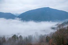 Het overzees van de de Riviervallei van Hubeibadong Dazhiping van wolken †‹â€ ‹ Stock Foto