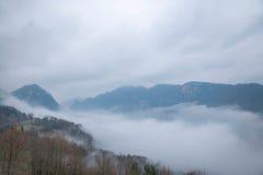 Het overzees van de de Riviervallei van Hubeibadong Dazhiping van wolken †‹â€ ‹ Royalty-vrije Stock Afbeelding