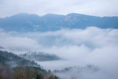 Het overzees van de de Riviervallei van Hubeibadong Dazhiping van wolken †‹â€ ‹ Royalty-vrije Stock Afbeeldingen