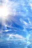 Het overzees van de de zonhemel van de zonsopgang Stock Afbeelding