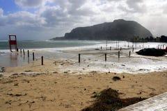 Het overzees van de winter na het regenen Royalty-vrije Stock Foto