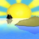 Het overzees van de zomer. Stock Afbeeldingen