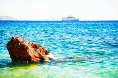 Het overzees van de zomer stock foto