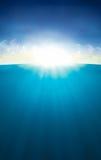 Het Overzees van de Zon van de hemel Royalty-vrije Stock Foto