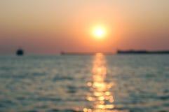 Het overzees van de zonsondergang Royalty-vrije Stock Afbeelding