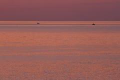 Het overzees van de zonsondergang Royalty-vrije Stock Fotografie