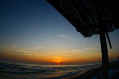 Het overzees van de zonsondergang Stock Afbeelding