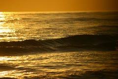 Het overzees van de zonsondergang Royalty-vrije Stock Afbeeldingen