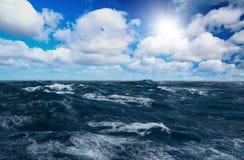 Het overzees van het onweer Royalty-vrije Stock Foto's