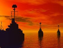 Het Overzees van het zuiden tijdens wereldoorlog 2 Stock Foto's