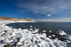 Het overzees van Japan in de winter 4 stock foto