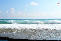Het overzees van kooid 'azur stock fotografie