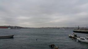 Het Overzees van Marmara met Schepen, Istanboel Royalty-vrije Stock Afbeelding