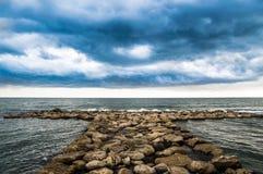 Het overzees van Nettuno door oneindig Stock Afbeeldingen