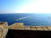 Het overzees van Tirreno in Porto Venere royalty-vrije stock afbeelding