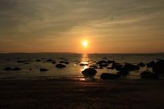 het overzees van zonsonderganggoa Stock Foto's