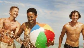 Het overzeese Concept van Sunny Vacation Leisure Holiday Friends royalty-vrije stock foto