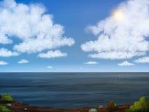 Het Overzeese Digitale Schilderen van de hemel en Stock Afbeelding
