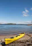 Het overzeese kayaking in Zweden Stock Foto's