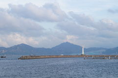 Het overzeese landschap Stock Afbeelding