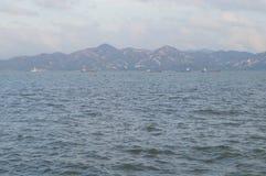 Het overzeese landschap Stock Foto