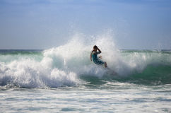 Het overzeese surfen Stock Foto's