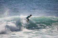 Het overzeese surfen Royalty-vrije Stock Fotografie
