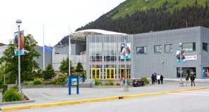 Het Overzeese van Alaska - van Seward Alaska Centrum van het Leven Stock Afbeelding