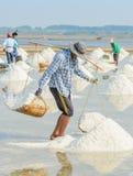 Het overzeese zoute oogsten royalty-vrije stock foto's