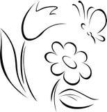Het overzicht van de de lentebloem stock illustratie
