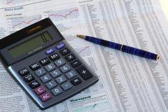 Het Overzicht van de Effectenbeurs Stock Afbeeldingen