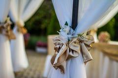 Het overzicht van de huwelijksontvangst Stock Fotografie