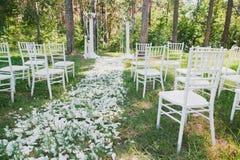 Het overzicht van de huwelijksontvangst royalty-vrije stock foto