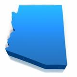Het Overzicht van de Kaart van Verenigde Staten Arizona Stock Foto
