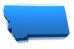 Het Overzicht van de Kaart van Verenigde Staten Montana Royalty-vrije Stock Afbeeldingen