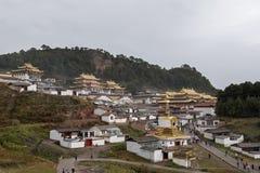 Het overzicht van de LangMu-tempel royalty-vrije stock fotografie