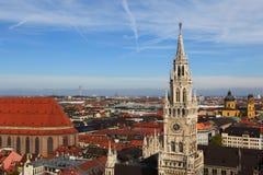 Het overzicht van de stad, München Duitsland Royalty-vrije Stock Afbeeldingen