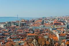 Het overzicht van Lissabon royalty-vrije stock afbeeldingen