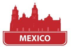 Het overzicht van Mexico royalty-vrije illustratie